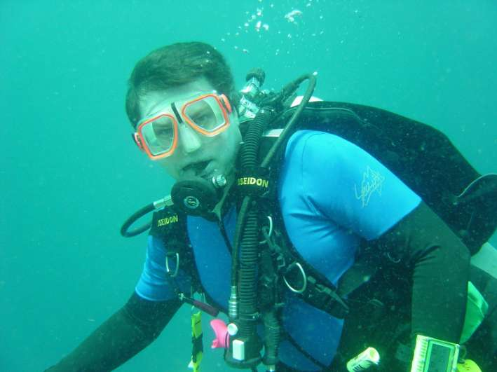 Andrew Whitehead, author and recreational diver