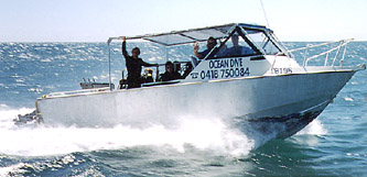 Ocean Dive is a spacious 8.4m, 225hp purpose built dive boat